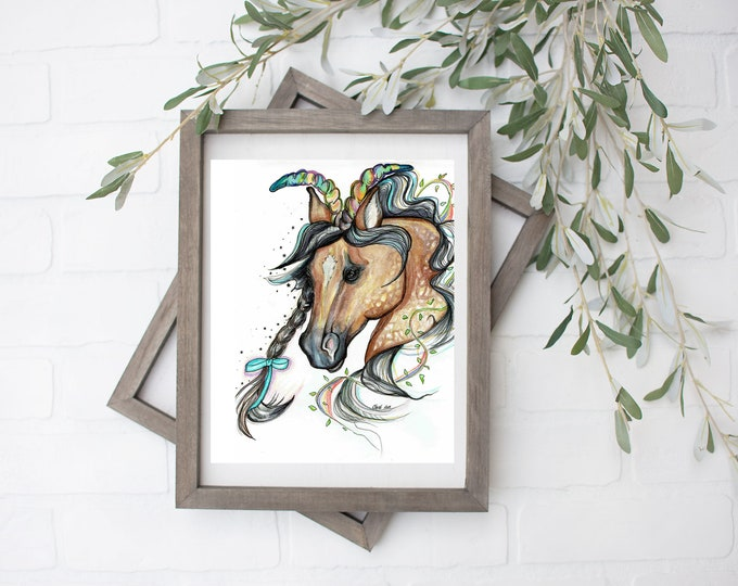 Capricorn Unicorn Art Print - Digital File - 8x10