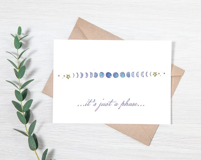 Moon Phase Greeting Card
