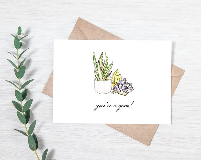 You're a Gem! - Greeting Card Download