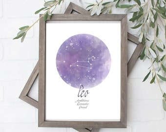Leo Constellation Art Print - Digital File - 8x10