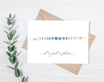Moon Phase Printable Greeting Card Download
