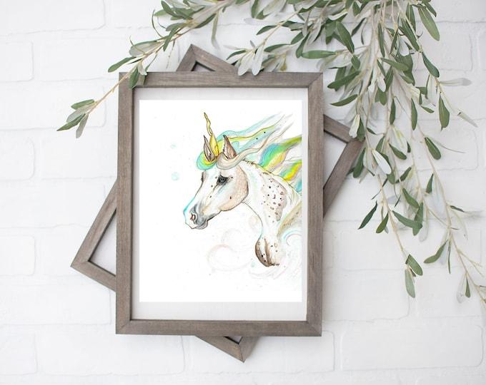 Cancer Unicorn Art Print - Digital File - 8x10