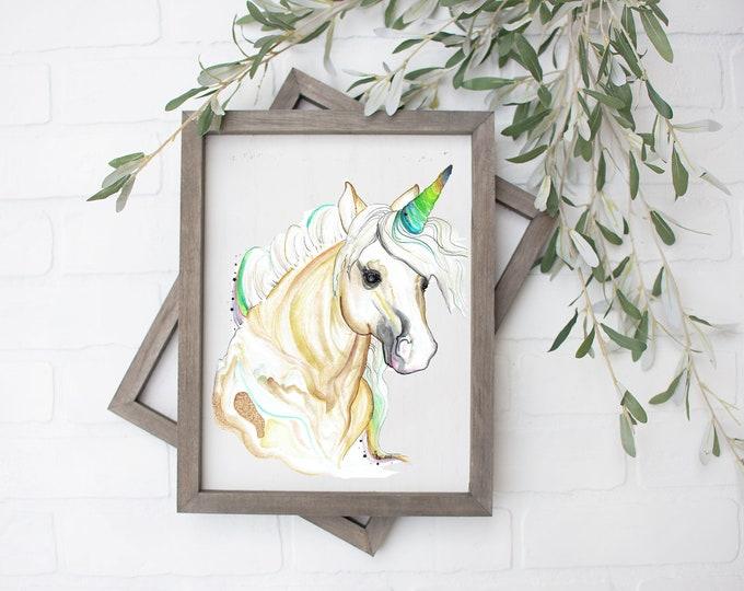 Taurus Unicorn Art Print - Digital File - 8x10