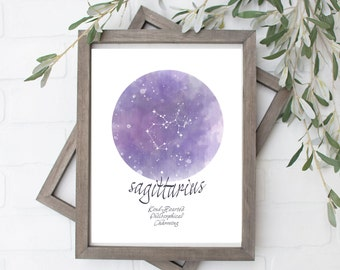 Sagittarius Constellation Art Print - Digital File - 8x10