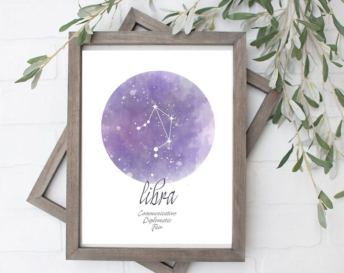 Libra Constellation Art Print - Digital File - 8x10