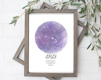 Aries Constellation Art - Digital File - 8x10