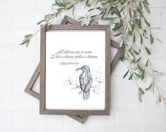 A Dream Within a Dream, Edgar Allan Poe Quote - Digital File - 8x10