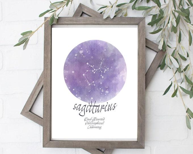 Sagittarius Constellation Art Print - Digital File - 8x10