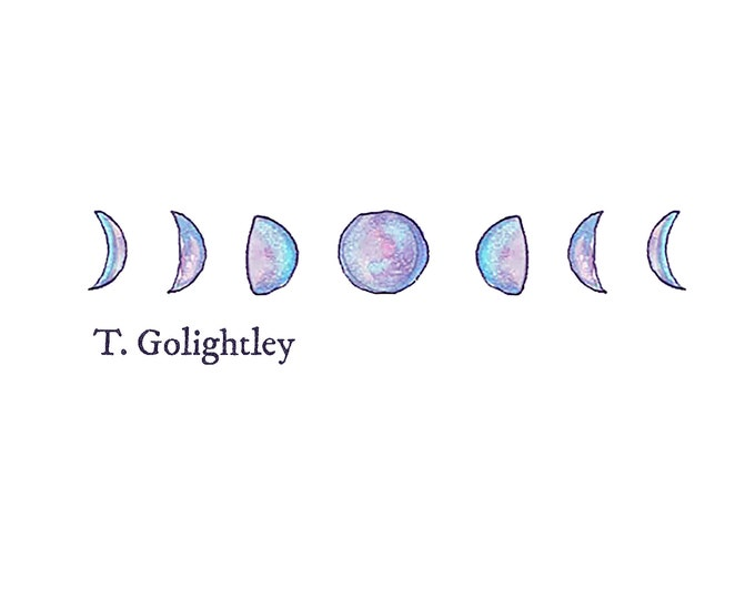 Customized Moon Phase JPG OR SVG Downloadable Graphic