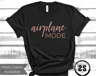 329aff995364c9 Airplane mode shirt, Vegas bachelorette shirts, honeymoon shirts for  couples, island vacation shirt, travel gifts for women, best selling