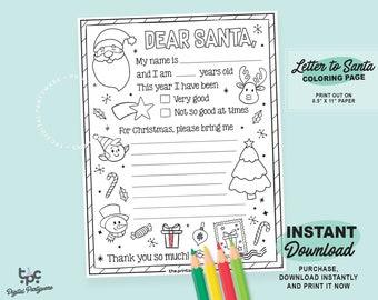 Wish List for Santa - www.crayola.com | Free christmas coloring ... | 270x340