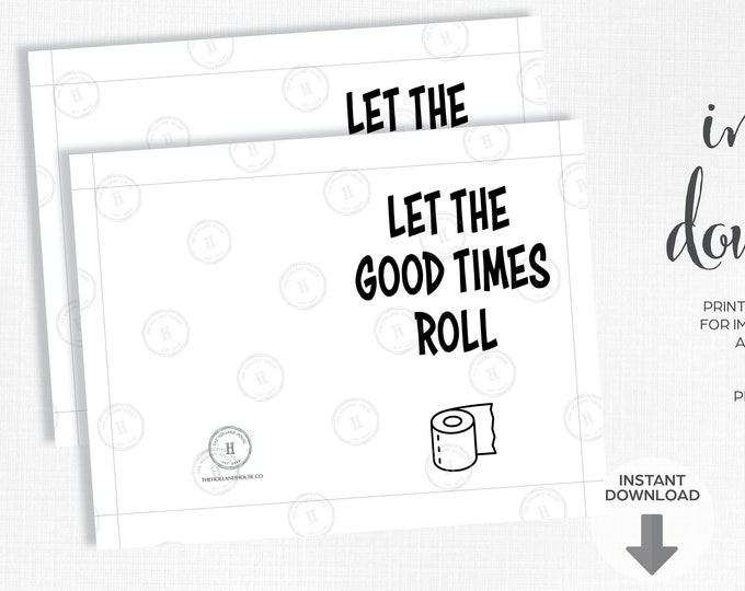 Let The Good Times Roll Greeting Card | Quarantine | Instant Download | Printable | JPEG | PDF |