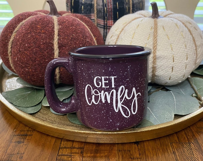 Get Comfy Purple Speckled Campfire Mug   Coffee   Home Décor   Kitchen Accessory   Office Accessory   Minimalist Décor