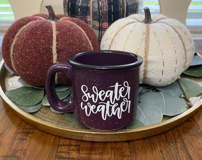Sweater Weather Purple Speckled Campfire Mug   Coffee   Home Décor   Kitchen Accessory   Office Accessory   Minimalist Décor
