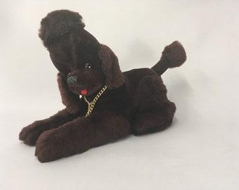 b8b4b45aa15 Vintage 1950s Black Poodle WORKING Transister Radio plush dog Made in Japan