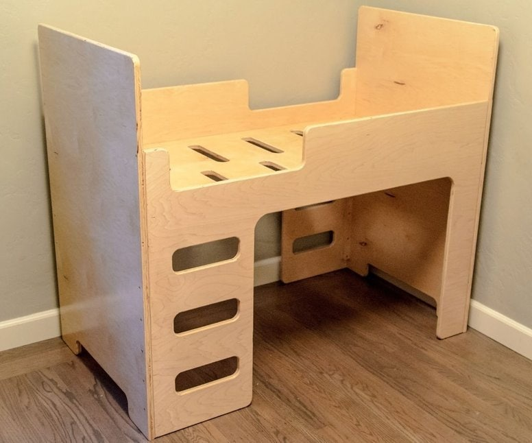 Crib Size Mattress Toddler Bunk Bed Interior Furniture Vector Etsy