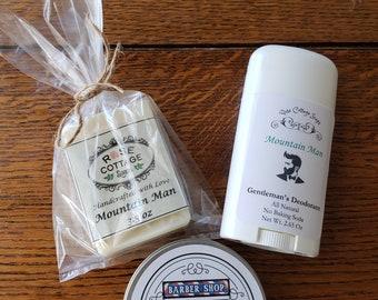Men's Gift Set, Soap, Beard Balm Deodorant Gift Set | Men's Gift Set | Muscle Rub Gift Set | Father's Day | Groomsmen