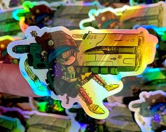 Holographic Jumbo Laser Sticker
