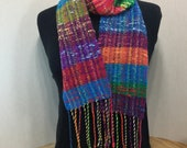 Multicolored Bejeweled Scarf