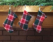 Handwoven Miniature Tartan Christmas Stocking