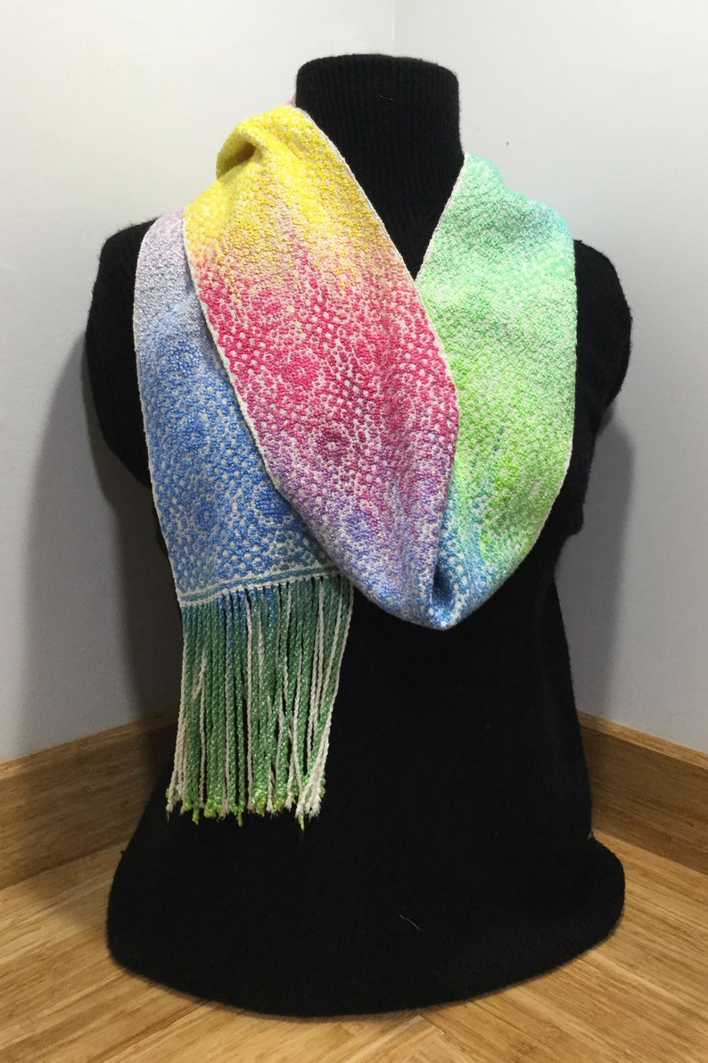 Handwoven Message Scarf image 0