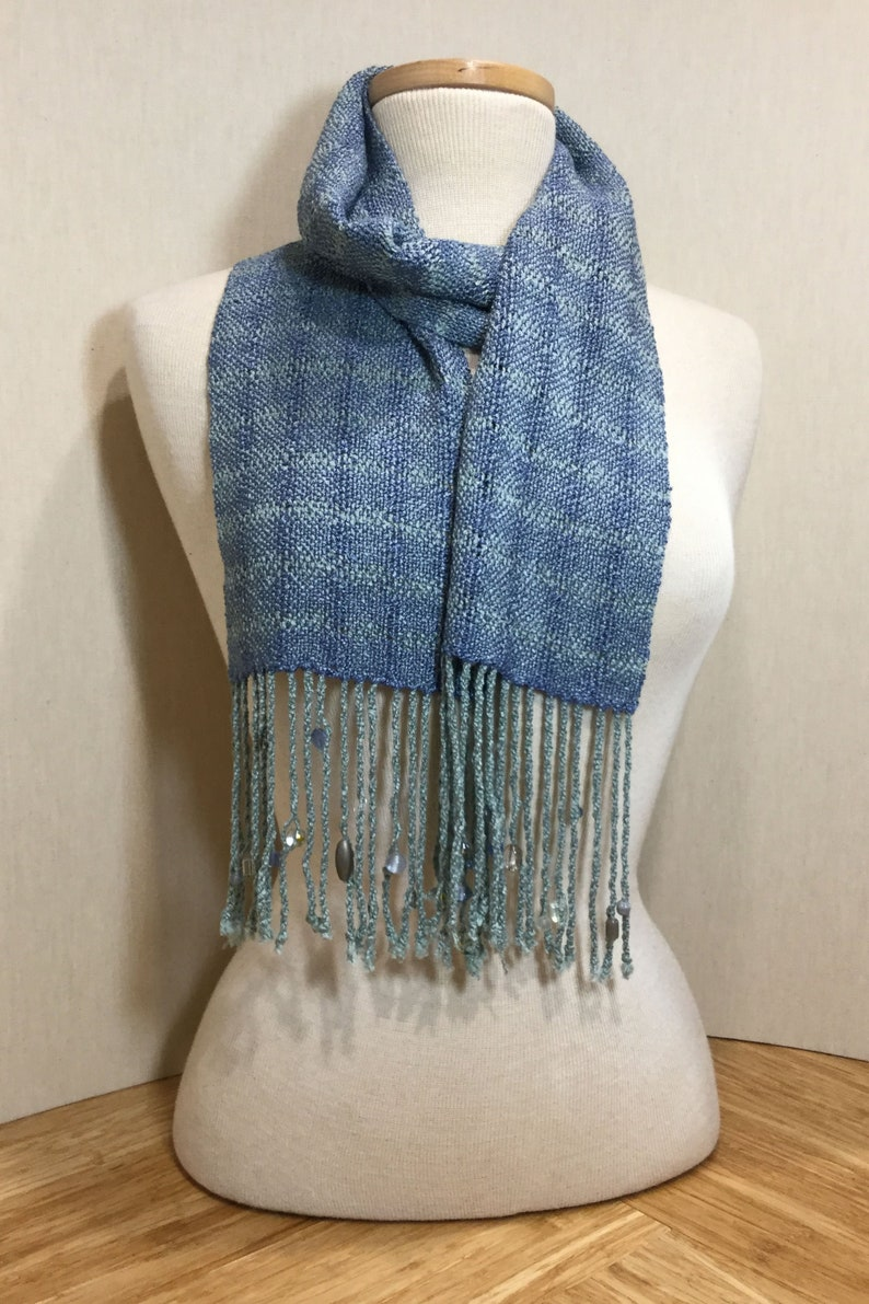 Handwoven Scarf with Beads image 0
