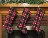 Handwoven Tartan Christmas Stocking
