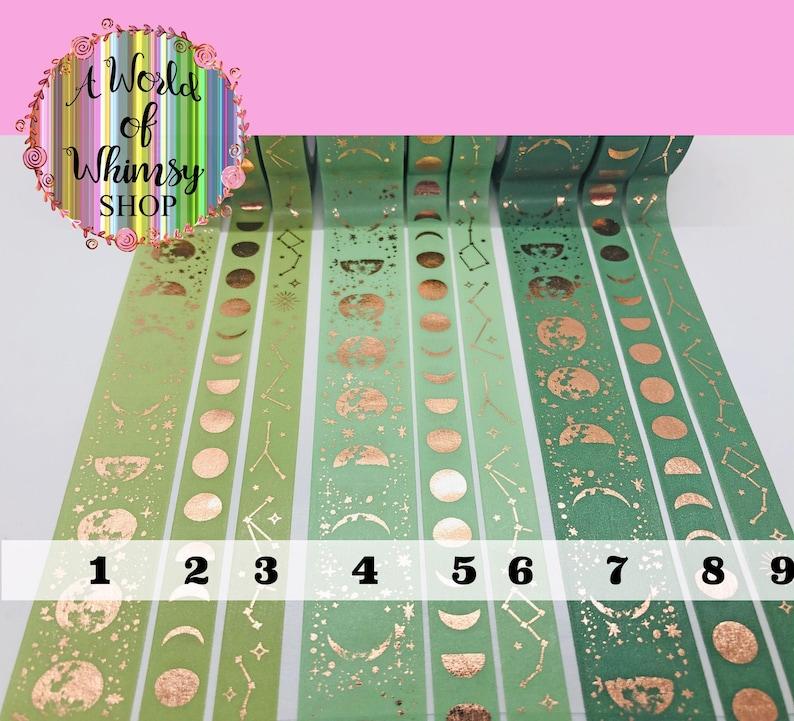 Washi Tape SAMPLEs; PaperGeek Lunar Magic in shades of Matcha!