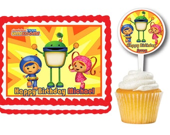 Team Umizoomi Edible Birthday Cake Or Cupcake Toppers Plastic Picks