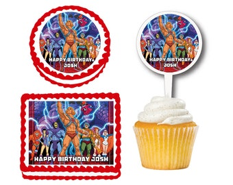 He Man Edible Birthday Cake Or Cupcake Toppers Plastic Picks