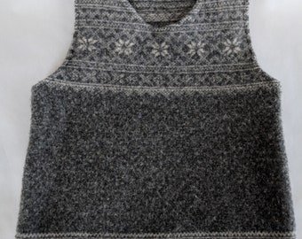 9b52b28c6 Upcycled boiled wool vest 2-3T