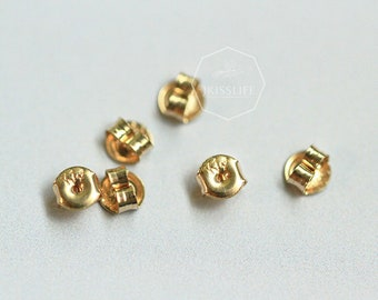 100 Transparent Rubber Bullet Clutch Earring Safety Backs Ear Nuts Earring Ke TW