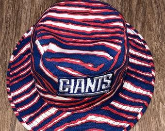 785b5b5c1737b Vintage 80s 90s New York Giants Zubaz bucket hat RARE nfl size small 6  3 4-6 7 8