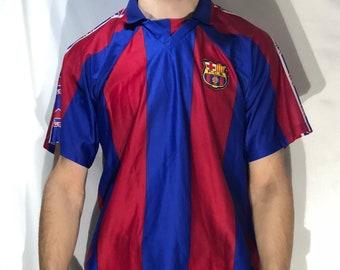 62c1f289388 VTG 1996 RONALDO  9 Barcelona FC Futbol soccer football jersey top barca sz  L