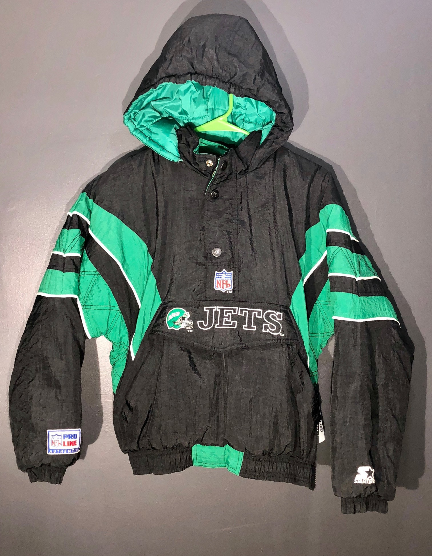 dee4d4f7 Vintage 90s New York Jets Starter pullover jacket NFL Football Pro Line  Official throwback size YOUTH large