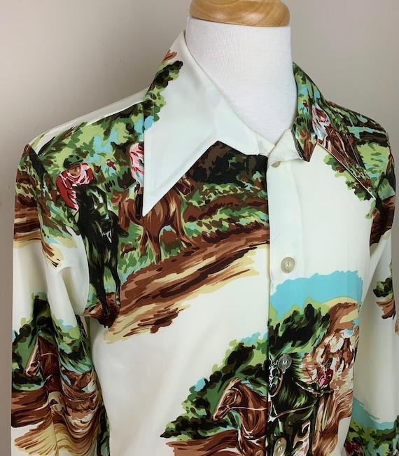 Vintage 1970's Novelty Print Shirt - image 3