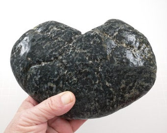 1 two toned heart shaped rock found on the shores of Maine; this unique heart rock would be a wonderful addition to rock collection!
