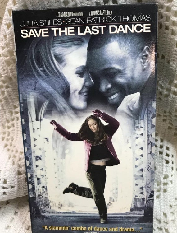 Save The Last Dance Vhs With Cardboard Cover Paramount Pictures Dance And Drama Video Cassette Tape Musical Movie Julia Stiles 2001