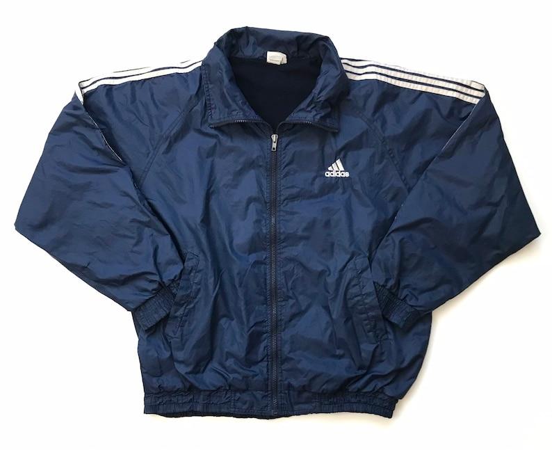Vintage vtg 90s ADIDAS Windbreaker Jacket Medium M PUFFER