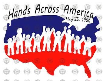 Hands across america | Etsy