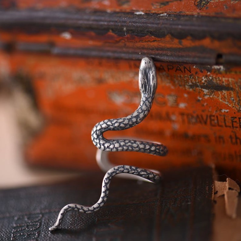 pure silver hand made ear clip special design snake
