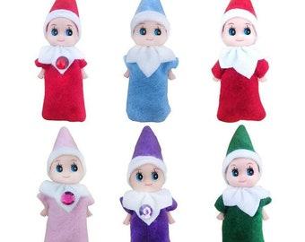 64d09b918 Baby Elf Plush Christmas Shelf Figure Decoration Elves Fairy Toys Doll for  girls