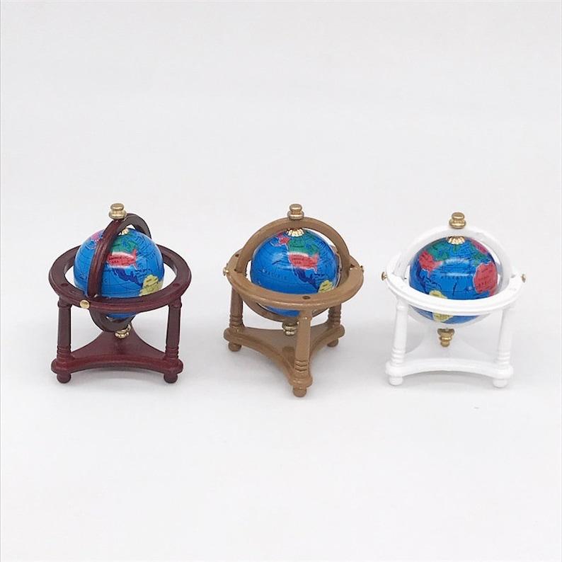 1:12 Dollhouse Miniature World Earth Globe Dolls House Decoration Ornaments