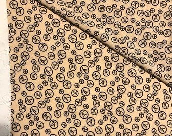 faf6de251fa Lv fabric by the yard Louis Vuitton Inspired fabric by the yard LV fabric  beige Designer fabric lv fabric cotton