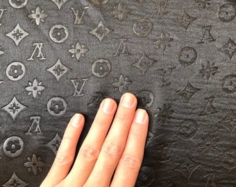 50a61917ec69bb Louis Vuitton Inspired fabric by the yard Louis vuitton fabric black Lv  Inspired fabric by the yard Designer fabric LV fabric white