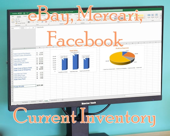 Ebay Mercari Current Inventory Tracking Spreadsheet Template Etsy