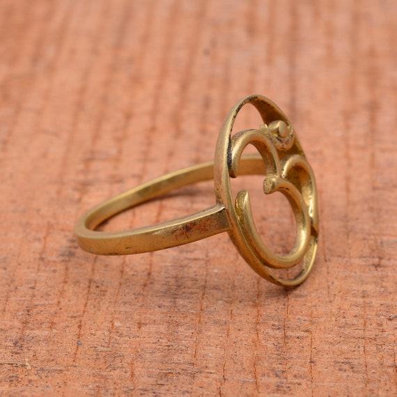 Brass Ring God Gift Ring Handmade Ring Ethnic Ring Dainty Ring Religious Ring OM Ring Women Ring Unique ring