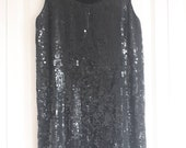 Groovy black sequin go-go mini dress