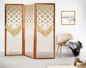 Decorative panels | Large Fiber Art | Modern wood art | wedding backdrop |folding room divider | Room divider screens