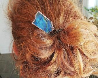 Handmade Hair Stick Trippy Hair Stick Bohemian Hair Accessory Czech Glass Bead Wooden Hair Stick Beach Bun Hair Stick.